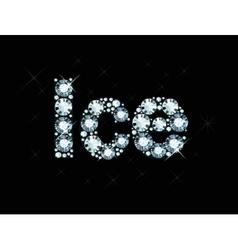 Diamond word ice vector image vector image