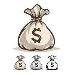 Full sack with money dollars vector image vector image