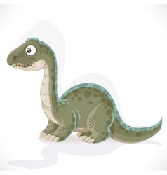 Little Brontosaurus isolated on white background vector image vector image