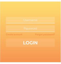 material design ui ux and gui layout with login vector image
