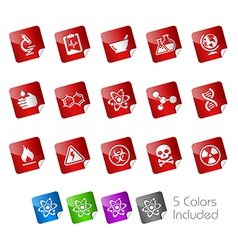 Science Stickers vector image
