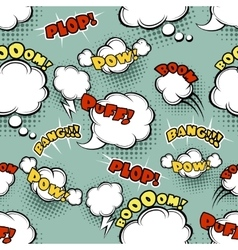 Seamless comic background vector image