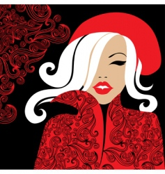 woman in red vector image vector image