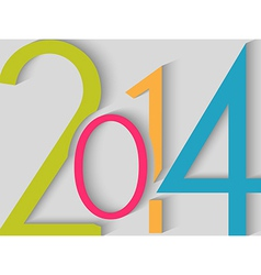 2014 Happy New Year color background vector