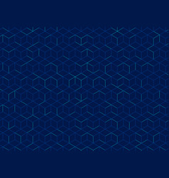 Abstract cube pattern on dark blue background vector
