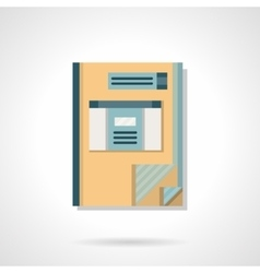 Accounting book flat color icon vector image