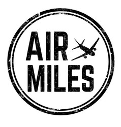 air miles sign or stamp vector image