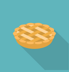 Apple or pumpkin pie in flat design vector