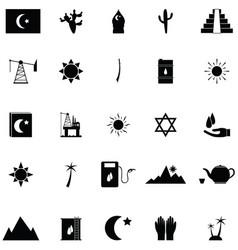 arabic icon set vector image