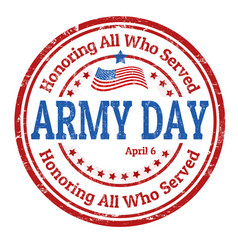 army day sign or stamp vector image