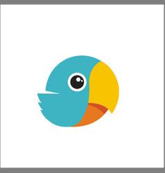 bird cute parrot logo vector image