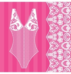 Body Lingerie vector image vector image