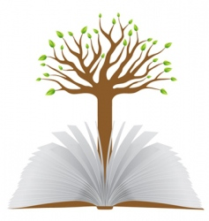 book with tree vector image