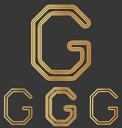 Bronze line g logo design set vector image