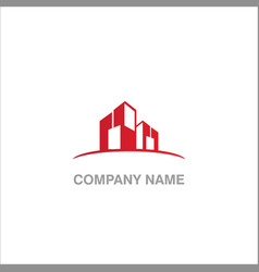 building design logo vector image