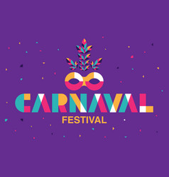 Carnaval typography popular event in brazil vector