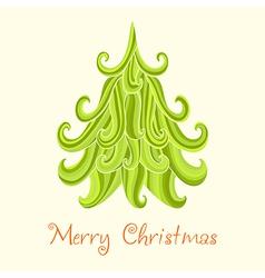 Christmas tree marry card vector
