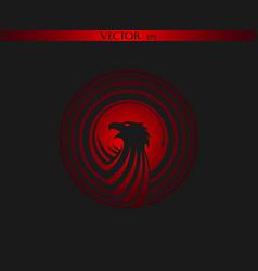 circle eagle logo dark edition vector image