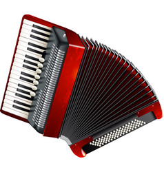 Classical accordion isolated on white background vector image vector image
