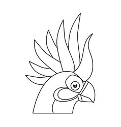 Cockatoo bird icon vector