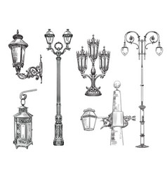 collection decorative architectural elements vector image