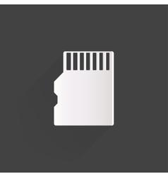 Compact memory card icon vector