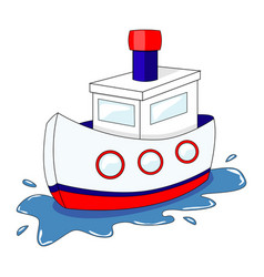 Cute cartoon ship isolated on vector