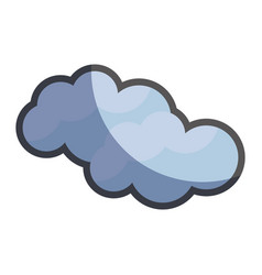 Cute natural cloud weather icon vector