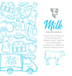dairy product page vector image