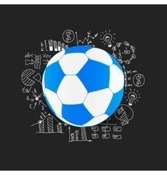Drawing business formulas ball vector image