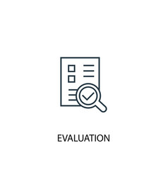 evaluation concept line icon simple element vector image