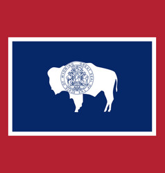 flag of the usa state of wyoming vector image