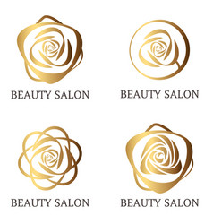 flower logo set for beauty salon beauty shop spa vector image