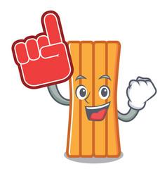 foam finger air mattress mascot cartoon vector image