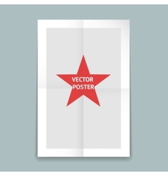 Folded poster template vector