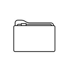 folder icon data vector image