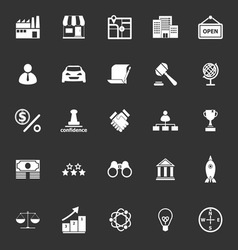 Franchise icons on gray background vector
