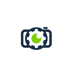 gear camera logo icon design vector image