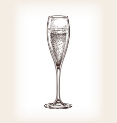 Glass champagne vector