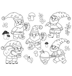 Gnomes Set vector image