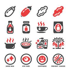 goji berry icon set vector image