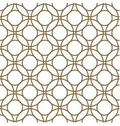 Gold and white overlapping circles seamless vector