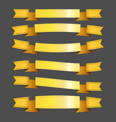 gold ribbons and banners vector image