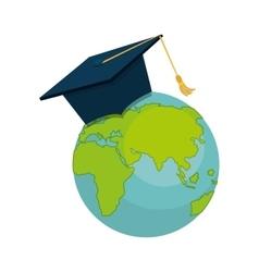 Graduation hat element icon vector