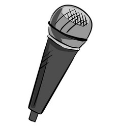 gray microphone on white background vector image
