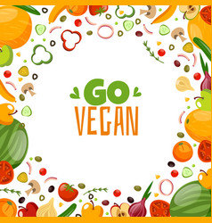 great vegetarian vector image