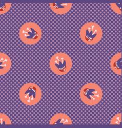 Hand drawn textured polka dot circles seamless vector