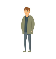 handsome young man in jacket and pants vector image