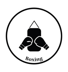 Icon of Boxing pear and gloves vector image