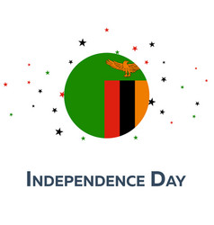 independence day of zambia patriotic banner vector image